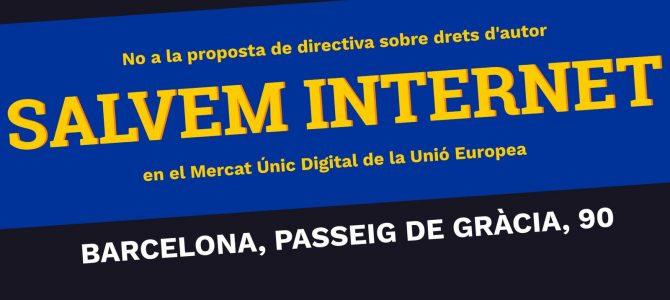 Salvem Internet! No a la proposta de directiva sobre drets d'autor en el Mercat Únic Digital de la Unió Europea
